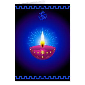 Lámpara que brilla intensamente decorativa de Diwa Tarjeta De Felicitación