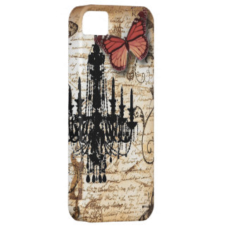 Lámpara roja del negro de la mariposa de Steampunk iPhone 5 Case-Mate Protector