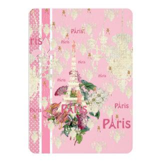 Lámpara rosada elegante de la torre Eiffel de Invitación 12,7 X 17,8 Cm
