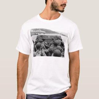Lancha de desembarque de LCVP que se acerca a la Camiseta