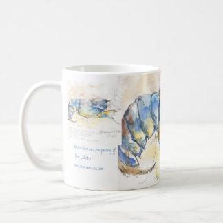 Langosta azul taza de café