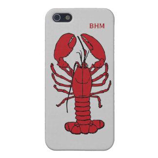 Langosta de Maine en las iniciales opcionales iPhone 5 Cobertura