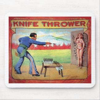 Lanzador del cuchillo alfombrilla de ratón