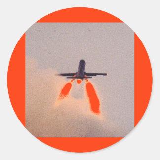 Lanzamiento de Falconet Pegatina Redonda