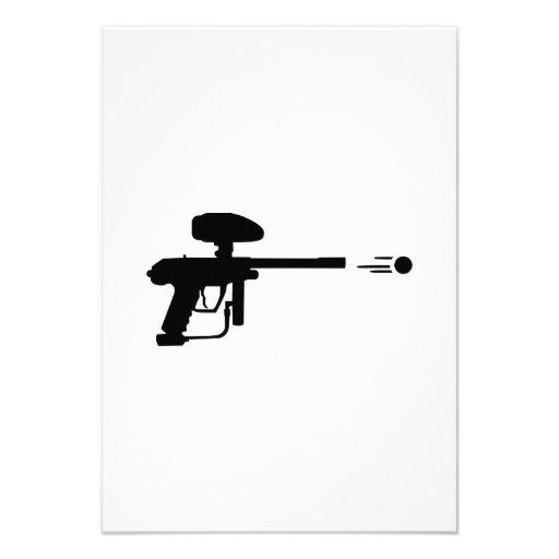 Lanzamiento del arma de Paintball Anuncio Personalizado