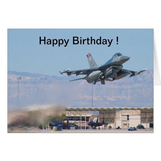 Lanzamiento del F-16 de la tarjeta del feliz