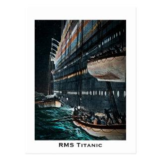 Lanzamiento titánico del RMS del vintage de los bo Tarjeta Postal