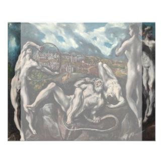 Laocoon de El Greco Folleto 11,4 X 14,2 Cm