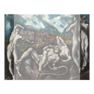 Laocoon de El Greco Folleto 21,6 X 28 Cm