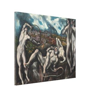 Laocoon de El Greco (grande) Impresion En Lona