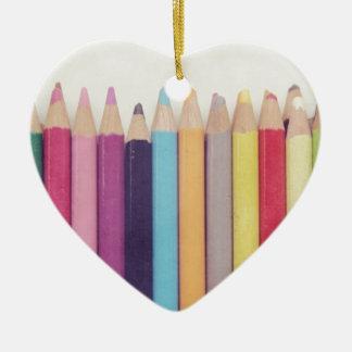 Lápices coloreados ornamento para arbol de navidad
