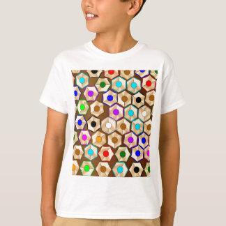 Lápices coloreados al azar camiseta