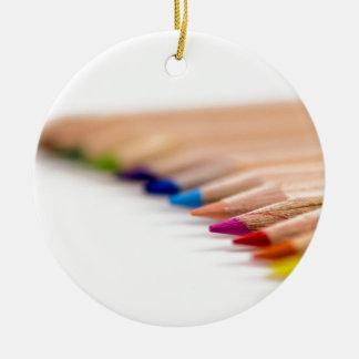 Lápices coloreados artista adornos
