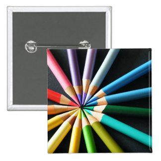Lápices coloreados - botón pins