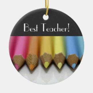 ¡Lápices coloreados - el mejor profesor! - ornamen Ornamento Para Reyes Magos