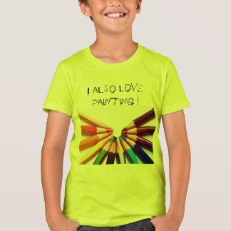 Lápices colores en abanico camiseta