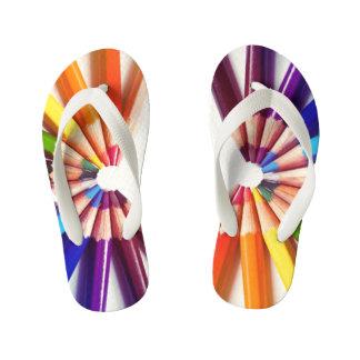 Lápices colores en abanico chanclas para niños