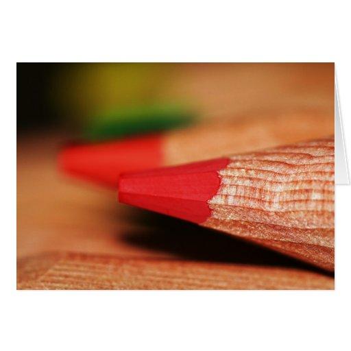 Lapices de Colores IV Tarjetón