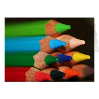 Lapices de Colores V Tarjeta De Felicitación
