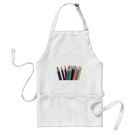 lápices de los colores delantales