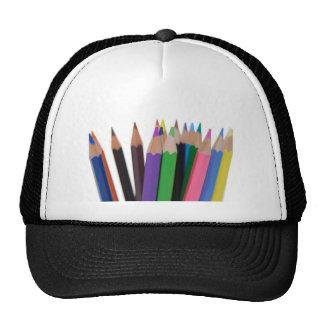 lápices de los colores gorros