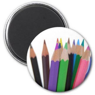 lápices de los colores imán para frigorífico