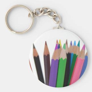 lápices de los colores llavero redondo tipo chapa