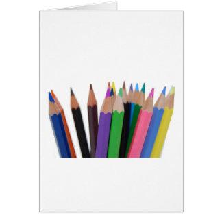 lápices de los colores felicitación