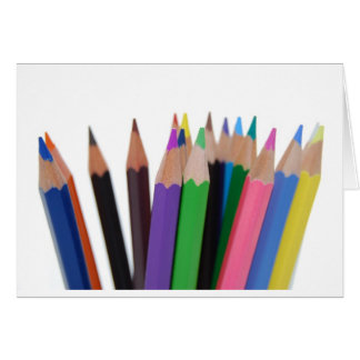 lápices de los colores tarjeta de felicitación