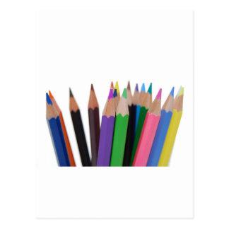 lápices de los colores postal