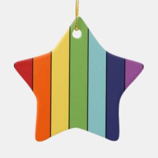 Lápices del arco iris adorno de cerámica en forma de estrella