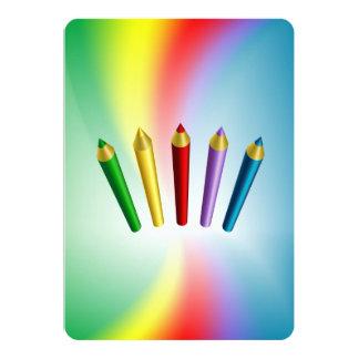 Lápices del color comunicados personalizados