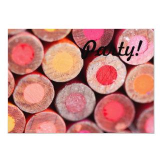 Lápices del color invitación 12,7 x 17,8 cm
