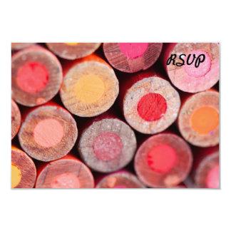 Lápices del color invitación 8,9 x 12,7 cm