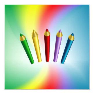Lápices del color invitación personalizada