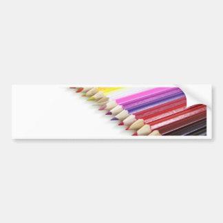 Lápices del color pegatina para coche