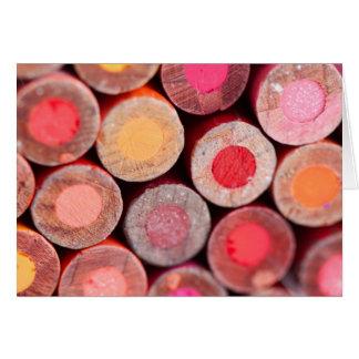 Lápices del color tarjeta de felicitación