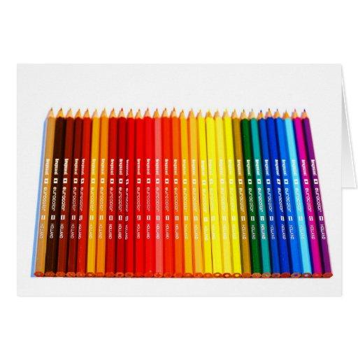 Lápices del color tarjetas