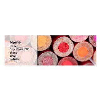 Lápices del color tarjetas de visita mini