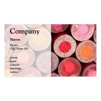 Lápices del color tarjetas de visita