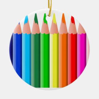lápices del colorante coloured_pencils_2, educació adorno de navidad