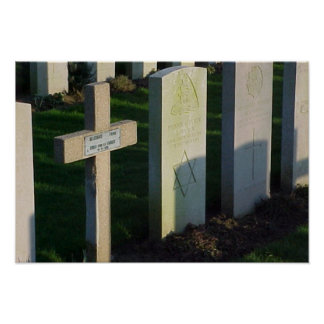 Lápidas mortuarias francesas y británicas, del jud póster