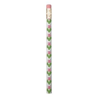 Lápiz Acuarela Lotus rosado con los brotes y las hojas
