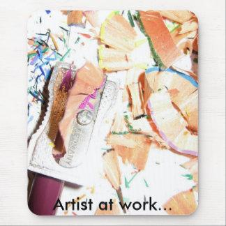 lápiz coloreado, artista en el trabajo… alfombrilla de ratón