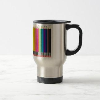 lápiz del color taza de viaje de acero inoxidable