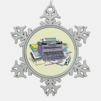 Lápiz del papel de máquina de escribir de las herr adornos