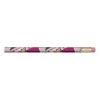 Lápiz Madera color de rosa geométrica elegante del