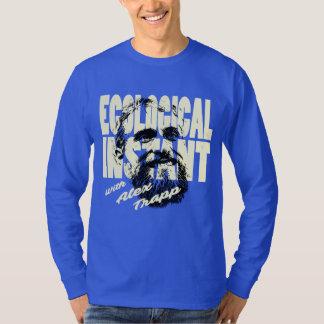 Largo-Sleever inmediato ecológico intrépido y azul Camiseta