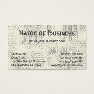 Laringe y pierna humanas de la anatomía de tarjeta de negocios