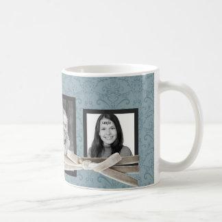 Las 3 fotos lindas envueltas con la cinta del terc tazas de café
